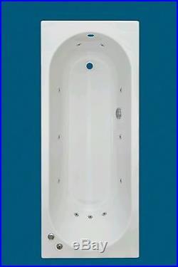 11 Jet Whirlpool Bath 5mm Acrylic Encapsulated Base 1700 x 700 mm Jacuzzi Spa