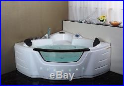 1350mm 20 Jet Whirlpool Bath Shower Air Spa Jacuzzis Massage Corner 2 person tub