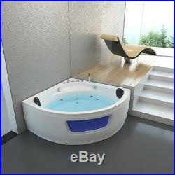 1350mm Whirlpool Spa Acrylic Jacuzzis Corner Double Ended Bathtub With 8 Jets