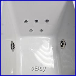 1500mm L Shaped Showerbath Bath + Whirlpool Jacuzzi Spa + Lights Options