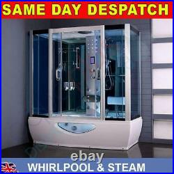 1500mm or 1650mm Whirlpool bath with steam shower cubicle enclosure jacuzzi new