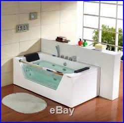 1690mm 22 JET Whirlpool Bath Shower Spa Jacuzzi Straight 2 person Double Bath