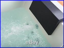1690mm 22 JET Whirlpool Bath Shower Spa Jacuzzi Straight 2 person Double Bathtub