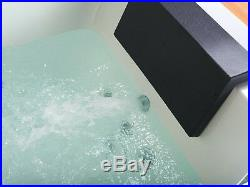 1690mm Whirlpool Bath Shower 22JET Spa Jacuzzi Straight 2 person Double Bathttub