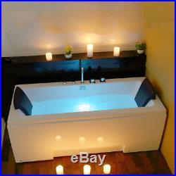 1700MM Whirlpool Shower Spa Double End Jacuzzis Massage Corner Bathtub 5170M