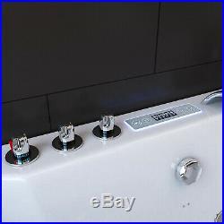 1700MM Whirlpool Shower Spa Double End Jacuzzis Massage Corner Bathtub HAWAII