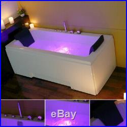 1700MM Whirlpool Shower Spa Jacuzzis Massage Corner 2person Bathtub Double Ended