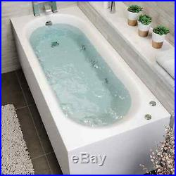 1700 x 700mm Whirlpool Bath Straight Single Ended Standard 6 Jets Jacuzzi Style