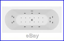 1700 x 750mm Whirlpool Bath Straight Double Ended Curved Airspa 26 Jets Jacuzzi