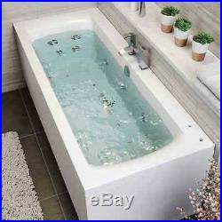 1700 x 750mm Whirlpool Bath Straight Double Ended Square Airspa 26 Jets Jacuzzi