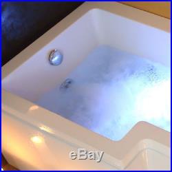 1700mm L Shaped Left Hand Whirlpool Shower Bath Jacuzzis Bathtub 8 Jets Vienna