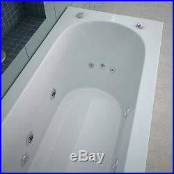 1700mm Luxury Whirlpool Rectangle Single End 13 Jest Spa Jacuzzi Bath with Waste
