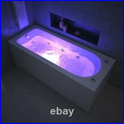 1700mm Luxury Whirlpool Rectangle Single End 13 Jets Spa Jacuzzi Bath with Waste