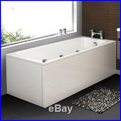 1700mm Whirlpool Bath Shower Spa Jacuzzis Massage jets Bathtub with Waste&Light