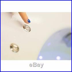 1700x850mm RH L Shape Whirlpool Jacuzzi Bath 22 Jet LED Lighting Screen & Panel