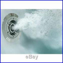 1700x850mm RH L Shape Whirlpool Jacuzzi Bath 26 Jet LED Lighting Screen & Panel