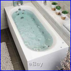 1800 x 750mm Whirlpool Bath Straight Single Ended Curved Airspa 26 Jets Jacuzzi