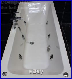 1800 x 800mm Double Ended Square Bath + 6 Jet Whirlpool Spa Jacuzzi Type