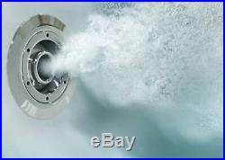 1800 x 800mm Whirlpool Bath Single Ended Square 10 Jets LED Lights Jacuzzi Style