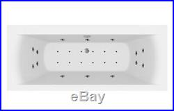 1800 x 800mm Whirlpool Bath Straight Double Ended Square Airspa 26 Jets Jacuzzi