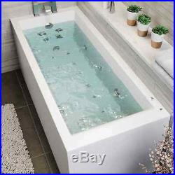 1800 x 800mm Whirlpool Bath Straight Single Ended Square Airspa 26 Jets Jacuzzi