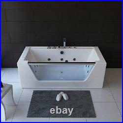 1 Person Whirlpool Bath Tub with Back Massage & Jacuzzi Jets 1700 x 800 x 600mm