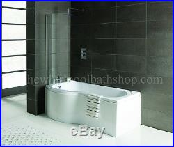 2019 LH Oceania 12 Jet P Shape Whirlpool Jacuzzi Shower Bath with Screen & Panel