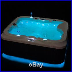 2019 New Luxury Hot Tub Spa Jacuzzis Whirlpool Bath With 21 Jets 2Seats+1Lounger