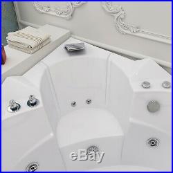 2019 New Modern Whirlpool Corner Bathtub Jacuzzis Massage Jets 2 Person 6155