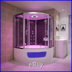 2019 New Steam Shower Corner Bath whirlpool Jacuzzis Cabin Cubicle EnclosureZM48