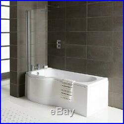 2020 LH Oceania 12 Jet P Shape Whirlpool Jacuzzi Shower Bath with Screen & Panel
