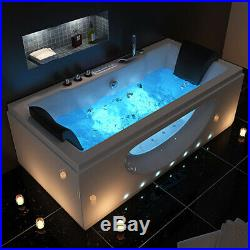 2020 New Whirlpool Bath Spa Jacuzzi Straight 2 person Double End Massage Bathtub