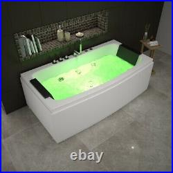 2021 Modern Whirlpool Bath Spa Jacuzzi Straight 2 person Double End Massage UK