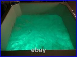 20 Jet Oriental Deep Soaking Japanese Whirlpool Bath 1100 x 1100 mm Jacuzzi Spa