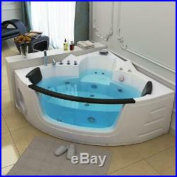 2 Person Indoor Whirlpool Bath Tub LED Lights Hydrotherapeutic Jacuzzi 12 Jets