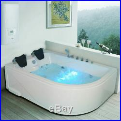2 Person Whirlpool Bath Tub with Massage and Jacuzzi Jets