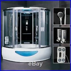 3KW Steam Shower Whirlpool Jacuzzis Enclosure Cubicle With 4Massage Jets 2Person