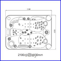 3-4Person Luxury Hot Tubs Spa Jacuzzis Whirlpool Outdoor Bathtub With 51 Jets