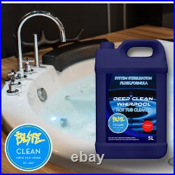 5L Whirlpool Internal Pipe Deep Cleaner Spa Jacuzzi Bath System Flush Grime Gone