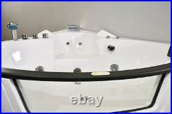 AMALFI WHIRLPOOL CORNER BATH-JACUZZI JETS-LED LIGHTS-1570mm x 1570mm-RRP £1999