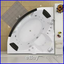 Amalfi Luxury Waterfall LED Jacuzzi 2 Person Whirlpool Bath Tub 1400X1400x620mm