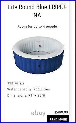 BNIB MSpa Lite 4 Person Inflatable Hot Tub Jacuzzi Whirlpool Bubble Spa Round