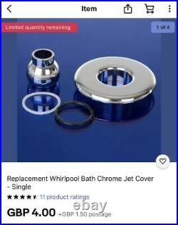 Bath White Whirlpool Jacuzzi spa 6 Jets Complete With Damixa Taps & Pop Up Waste