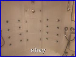 Bath with jacuzzi jets and shower unit bought from ideal home good condition