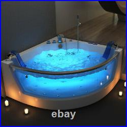 Bathroom Whirlpool Bath Double Ended Corner SPA Bathtub 17 Jacuzzi Massage Jets