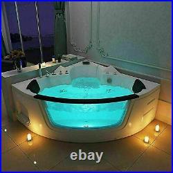 Bathroom Whirlpool Bath Shower Spa Jacuzzi Massage Corner 2 Person Bathtub LED
