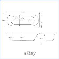 California 23 Jet Double Ended Whirlpool Jacuzzi Spa Bath 1800 x 800 x 550 MM