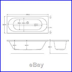 California 25 Jet Double Ended Whirlpool Jacuzzi Spa Bath 1800 x 800 x 550 MM
