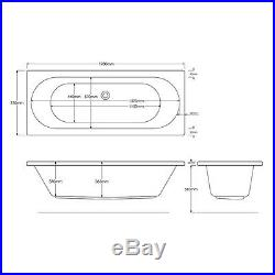 California 25 Jet Double Ended Whirlpool Spa Jacuzzi Bath 1700 x 750 x 550 MM