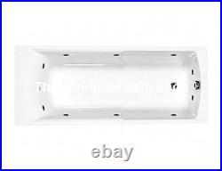 Carron Axis 1700 x 700 11 Jet Whirlpool Bath Jacuzzi Spa + Free LED Light